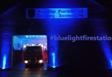 Aktion #bluelightfirestation Feuerwehr Derneburg