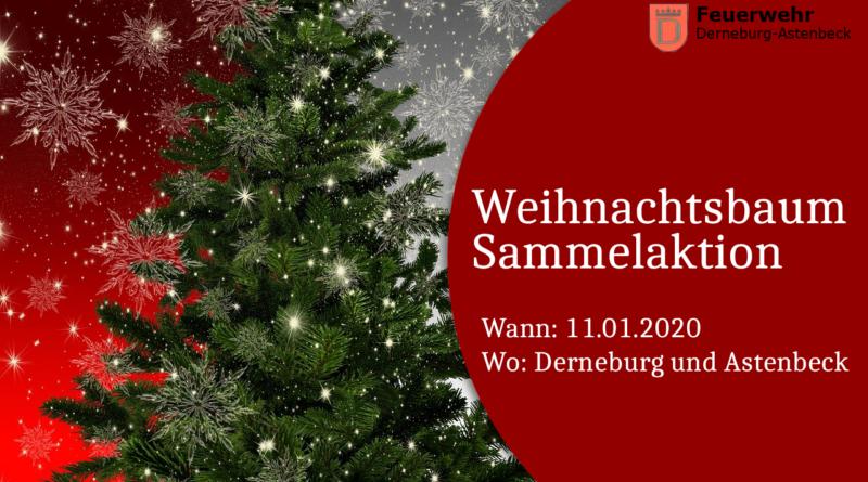 Weihnachtsbaum Sammelaktion FFW Derneburg Astenbeck